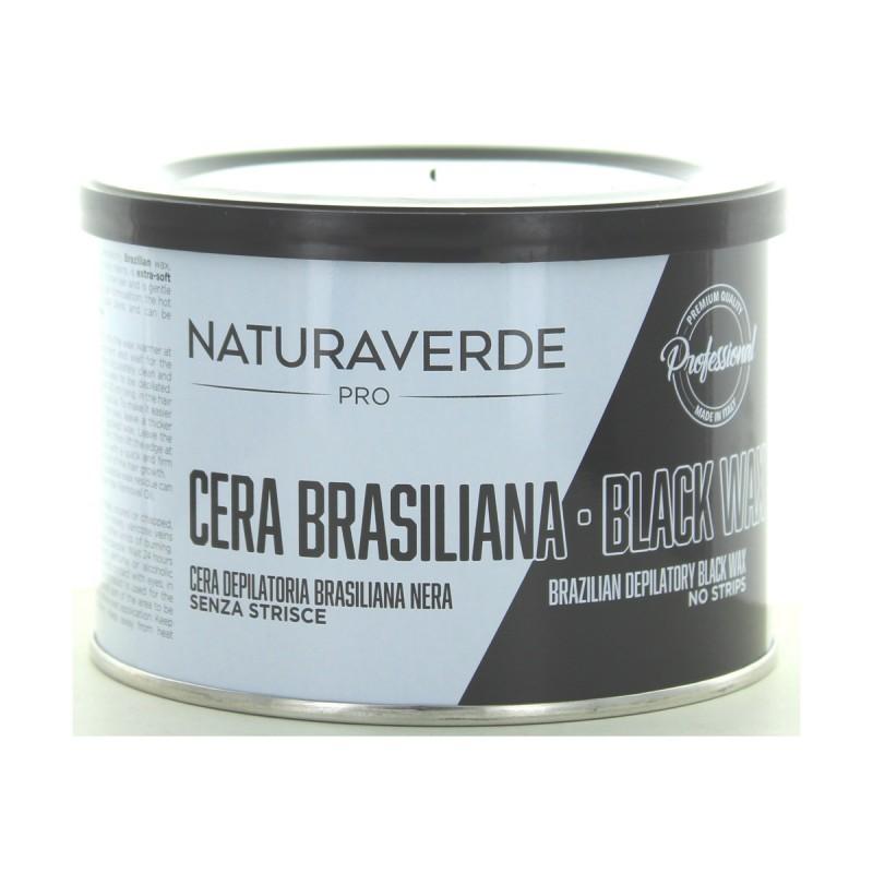 NATURAVERDE PROFESSIONAL CERA DEPILATORIA BRASILIAN BLACK LIPOSOLUBILE 400 ML