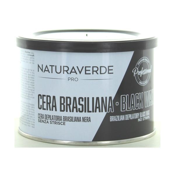 NATURAVERDE PROFESSIONAL CERA DEPILATORIA BRASILIAN BLACK LIPOSOLUBILE 400 ML, CERE DEPILATORIE, S147992, 87016