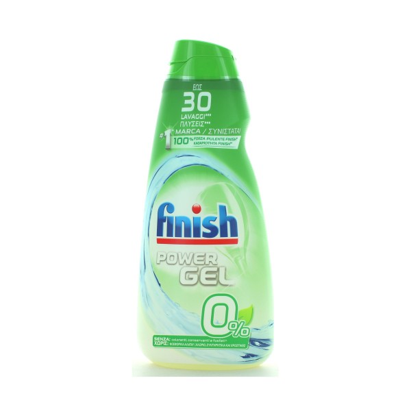 FINISH POWER GEL 0% SENZA COLORANTI, CONSERVANTI E FOSFATI 30 LAVAGGI 600 ML, LAVASTOVIGLIE, S154834, 87047