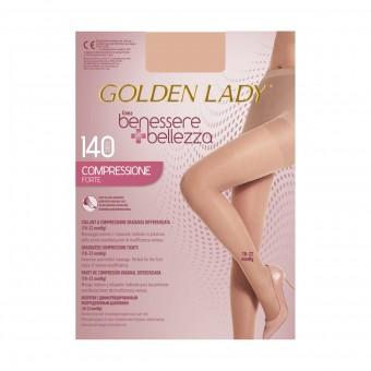 GOLDEN LADY COLLANT BENESSERE & BELLEZZA A COMPRESSIONE GRADUATA DIFFERENZIATA 140 DENARI PLAYA TAGLIA 5/XL