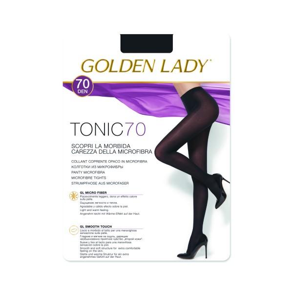 GOLDEN LADY TONIC 70 DENARI COLLANT COPRENTE OPACO NERO TAGLIA 3 - MEDIUM, CALZE, COLLANT & GAMBALETTI, S141267, 87173