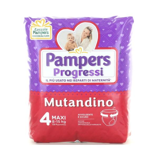 PAMPERS PROGRESSI MUTANDINO 4 MAXI 19 PZ 8-15 KG, PANNOLINI, S149787, 87310