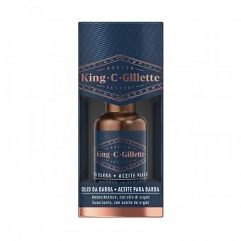 KING C GILLETTE OLIO DA BARBA CON OLIOD DI ARGAN 30 ML