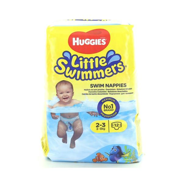 HUGGIES SWIMMERS 2-3  3-8 KG.12 PEZZI UNISEX , PANNOLINI, S135531, 87393