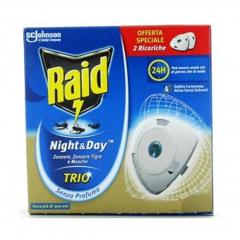 RAID NIGHT&DAY TRIO INSETTICIDA RICARICHE PER DIFFUSORE ELETTRICO 2 PZ