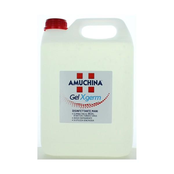 AMUCHINA GEL X-GERM DISINFETTANTE MANI TANICA 5 LT, MEDICAZIONE & PRONTO SOCCORSO, S160761, 87461