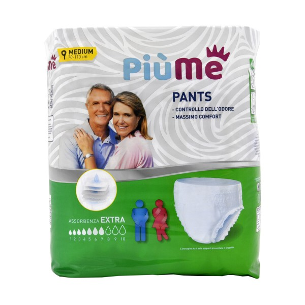 PIUME PANTS AIR DRY MEDIUM CM 70-110 9 PZ, INCONTINENZA ADULTI, S160819, 87501