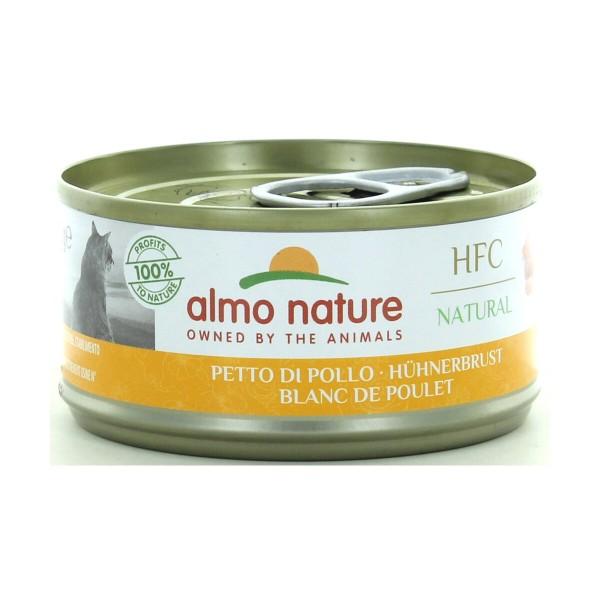 ALMO NATURE GATTI NATURAL PETTO DI POLLO LATTINA 70 GRAMMI, NUTRIZIONE, S139379, 87596