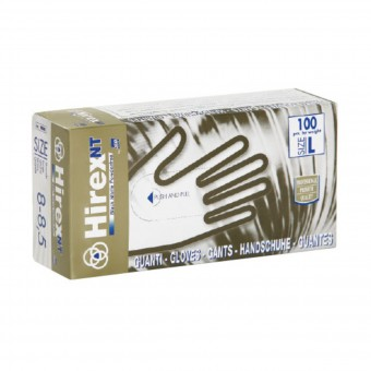 HIREX NT GUANTI BLACK IN NITRILE SENZA POLVERE SIZE L 8-8,5 100 PZ