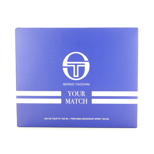 SERGIO TACCHINI YOUR MATCH CONFEZIONE - EDT 100 ML + AFTER SHAVE LOTION 100 ML, PROFUMI UOMO, S160983, 87849