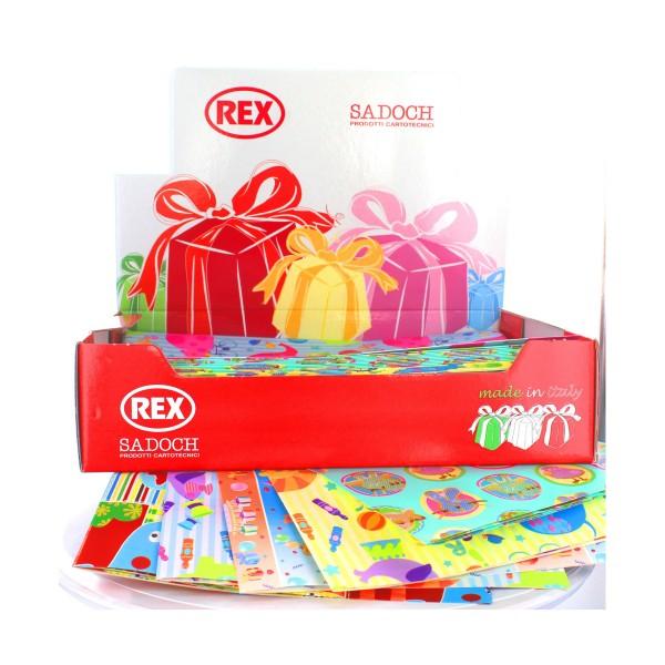 REX CARTA REGALO RASO BIMBI 70x100 PZ.100, CARTA REGALO, NASTRI & COCCARDE, S112624, 88188