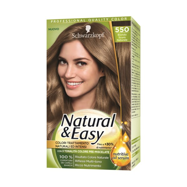 NATURAL & EASY COLOR 550 BIONDO SCURO NATURALE, COLORANTI, S154878, 88543