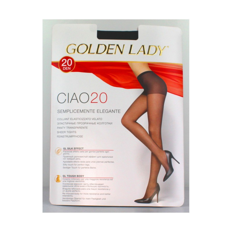 GOLDEN LADY CIAO COLLANT 20 DEN VISONE TAGLIA 4