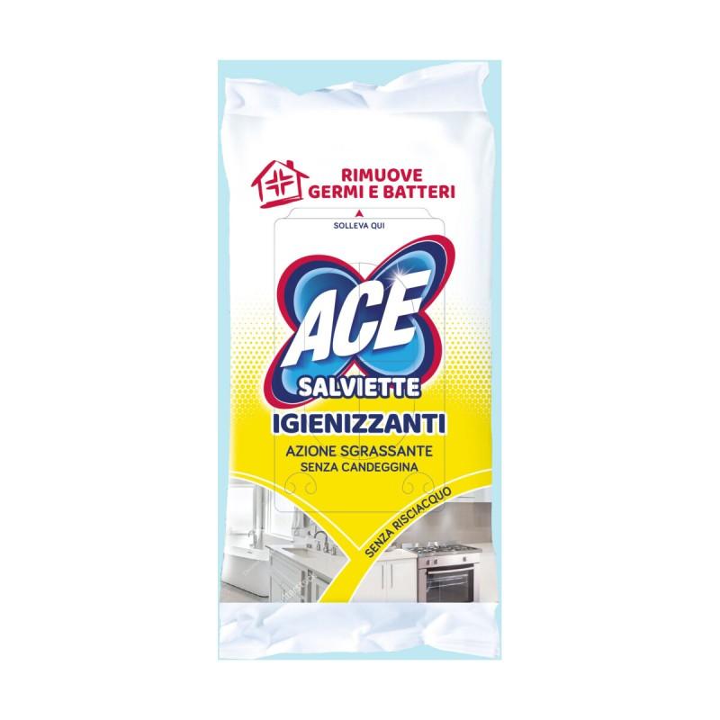 ACE SALVIETTE IGIENIZZANTI AZIONE SGRASSANTE SENZA CANDEGGINA 40 PZ