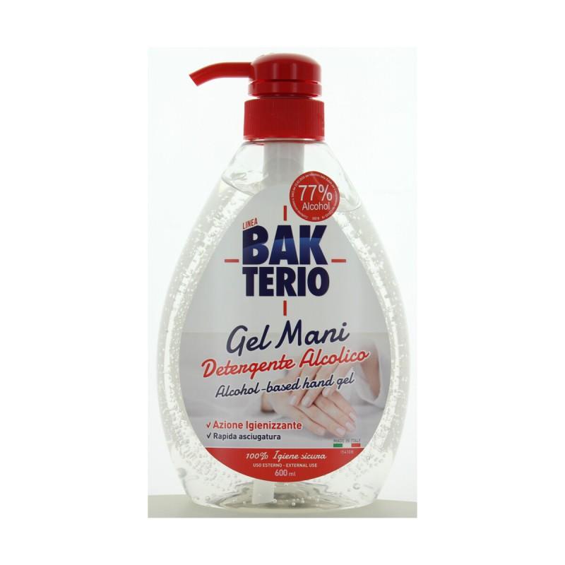 BAKTERIO GEL MANI ALCOLICO IGIENIZZANTE 600 ML