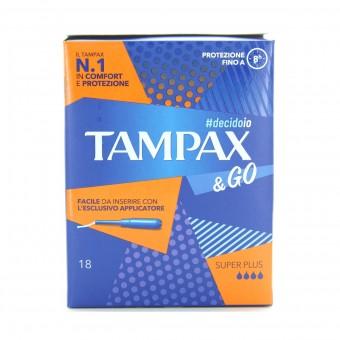 TAMPAX & GO ASSORBENTI INTERNI SUPER PLUS 18 PZ