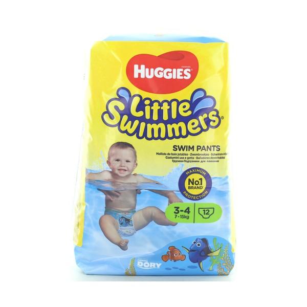 HUGGIES LITTLE SWIMMERS MUTANDINA BAMBINO SMALL TAGLIA 3-4  7-15 KG 12 PZ PANNOLINI, PANNOLINI, S012426, 88836