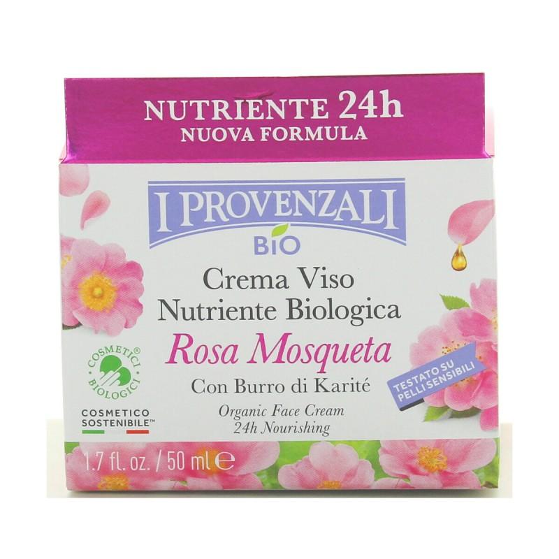 I PROVENZALI ROSA MOSQUETA BIO CREMA VISO 24H NUTRIENTE PELLI NORMALI - MISTE 50 ML