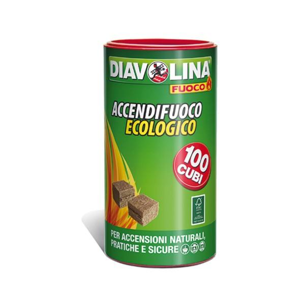 DIAVOLINA ACCENDIGRILL ECOLOGICA 100 CUBI, ACCENDIFUOCO, S023624, 88948