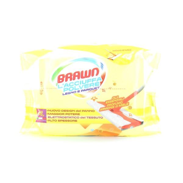 BRAWN L'ACCIUFFAPOLVERE PARQUET 12 PANNI, SCOPE / PANNI E ACCESSORI PAVIMENTI, S122573, 89072