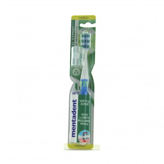 MENTADENT SPAZZOLINO DENTI  VERTICAL EXPERT MEDIUM