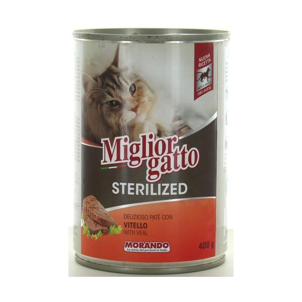 MIGLIOR GATTO STERILIZED PATE' VITELLO LATTINA 400 GRAMMI , NUTRIZIONE, S139131, 89240