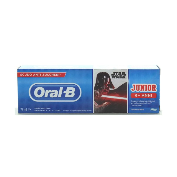 ORAL B DENTIFRICIO JUNIOR STAR WARS 6+ ANNI 75 ML  BAMBINI, DENTIFRICI, S150593, 90072