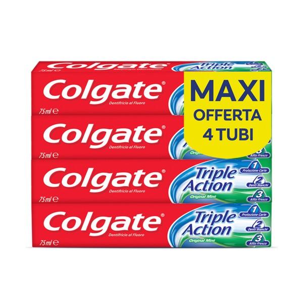 COLGATE TRIPLE ACTION 75 ML x 4 PEZZI, DENTIFRICI, S136554, 90293