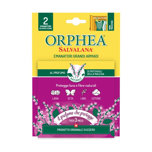 ORPHEA SALVALANA ANTI-TARME GRANDI ARMADI PATCHOULI 2 PZ, INSETTICIDI VOLANTI, S162736, 90518
