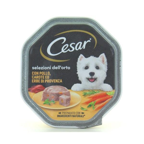 CESAR DELICATO PATE' POLLO & CAROTINE VASCHETTA 150g, NUTRIZIONE, S128638, 90854