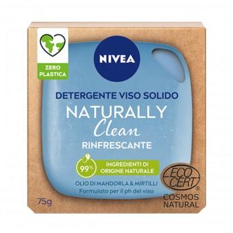 NIVEA VISO DETERGENTE SOLIDO NATURALLY CLEAN RINFRESCANTE OLIO DI MANDORLE & MIRTILLI 75 grammi
