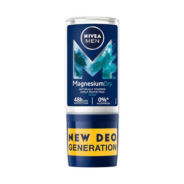 NIVEA FOR MEN DEODORANTE ROLL-ON MAGNESIUM DRY FRESH 50 ML, DEODORANTI ANTIODORE PER PERSONA, S162928, 91098