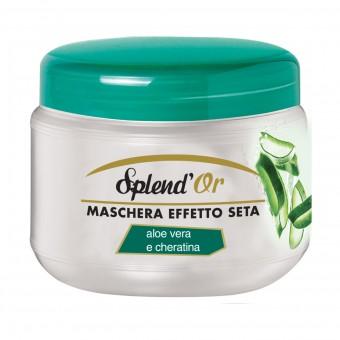 SPLENDOR MASCHERA CAPELLI EFFETTO SETA ALOE VERA e CHERATINA 500 ML