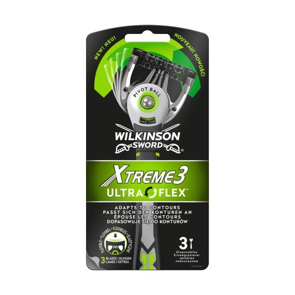 WILKINSON RASOIO XTREME3 ULTRA FLEX 3 PZ, LAME E RASOI PER UOMO, S155958, 92301