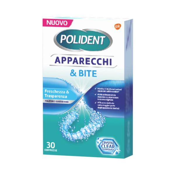 POLIDENT APPARECCHI & BITE 30 COMPRESSE, CURA DENTIERE, S001473, 94031