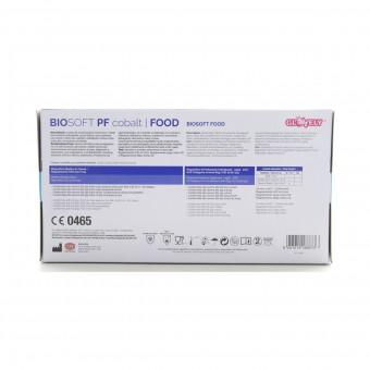 GLOVELY BIOSOFT FOOD 100 GUANTI IN NITRILE PER INDUSTRIA ALIMENTARE NON STERILI MONOUSO MISURA  MEDIUM 7-7,5