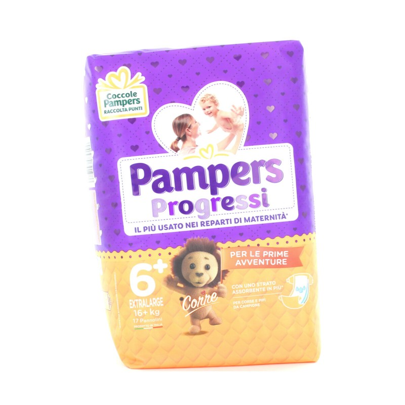 PAMPERS PANNOLINI PROGRESSI 6+  XL Kg.16+  17 PZ