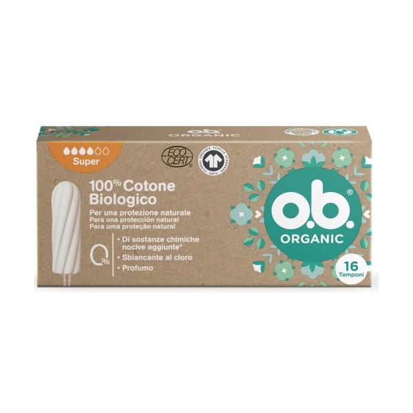 OB ORGANIC SUPER 16 PZ 100% COTONE BIOLOGICO, ASSORBENTI INTERNI, S164191, 94868