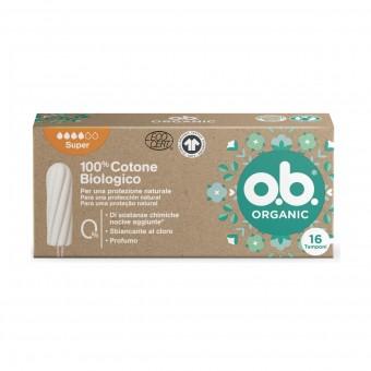 OB ORGANIC SUPER 16 PZ 100% COTONE BIOLOGICO
