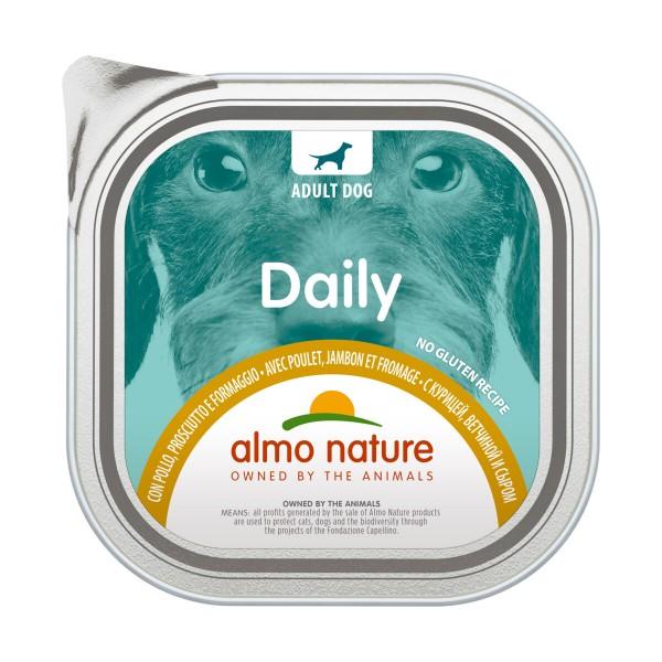 ALMO NATURE DAILY CANE VASCHETTA POLLO - PROSCIUTTO - FORMAGGIO 300 grammi, NUTRIZIONE, S164291, 95368