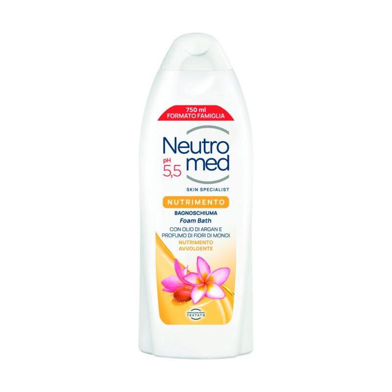 NEUTROMED BAGNOSCHIUMA NUTRIMENTO pH5,5 CON OLIO DI ARGAN E PROFUMO DI FIORI DI MONOI 750 ML