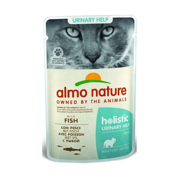 ALMO NATURE GATTO HOLISTIC URINARY HELP BUSTA CON PESCE 70 grammi, NUTRIZIONE, S164987, 97032