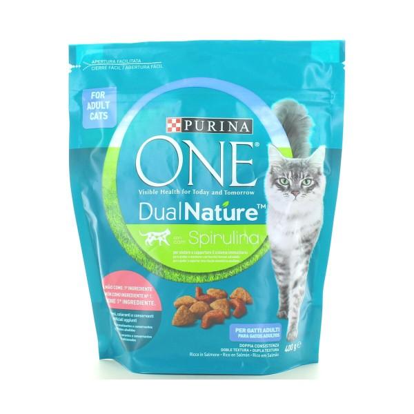 PURINA ONE GATTO DUAL NATURE CROCCHETTE SALMONE BUSTA 400 grammi + BUONO SCONTO 0,50, NUTRIZIONE, S149278, 97117