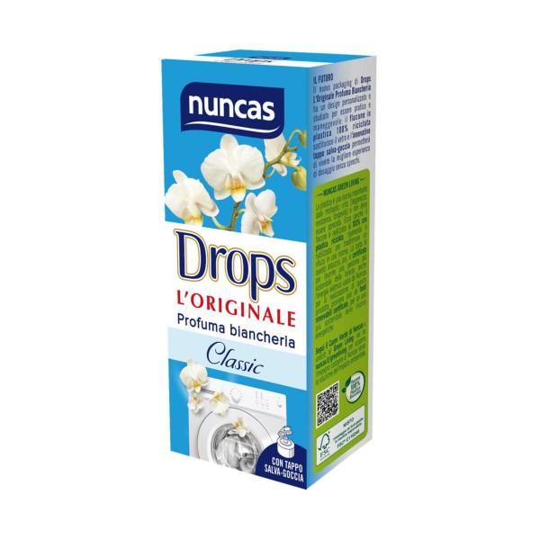NUNCAS DROPS CLASSIC PROFUMA BIANCHERIA 100 ML , TRATTAMENTO BUCATO, S023043, 97166