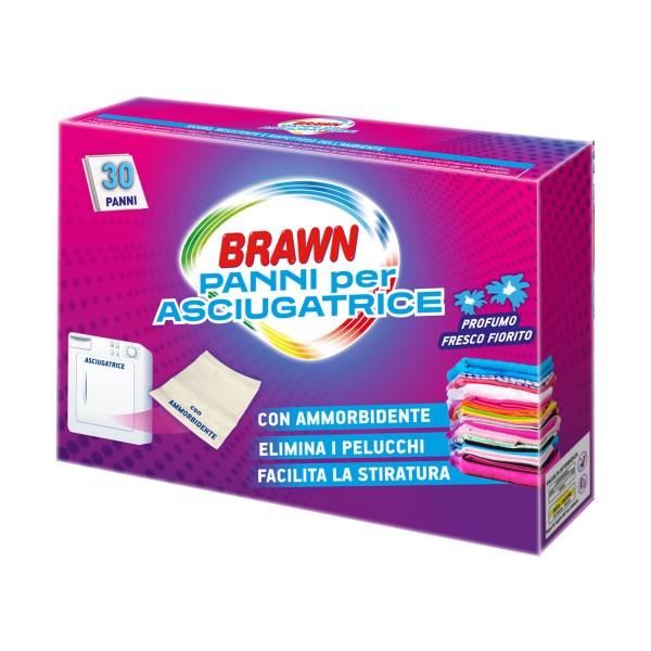 BRAWN PANNI PER ASCIUGATRICE PROFUMO FRESCO FIORITO 30 PZ, TRATTAMENTO BUCATO, S105582, 97546