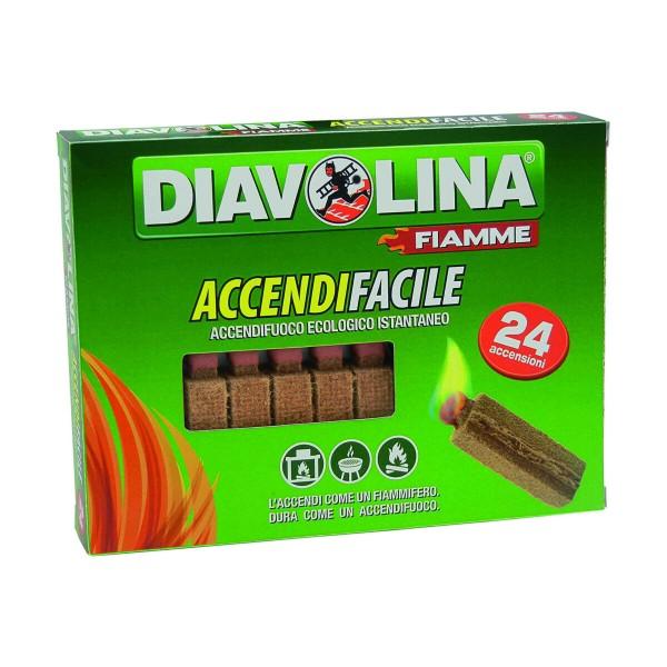 DIAVOLINA ACCENDIFACILE ECOLOGICO 24 FIAMMIFERI, ACCENDIFUOCO, S130465, 97903